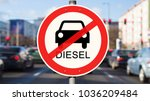 street sign diesel driving ban  ...
