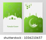 ramadan mubarak and eid concept.... | Shutterstock .eps vector #1036210657