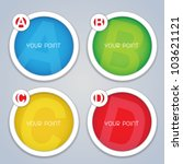 ABCD Circular Progress Labels / Templates
