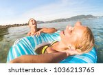 young couple vacationer having... | Shutterstock . vector #1036213765
