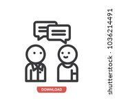 conversation vector icon