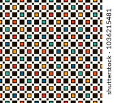 seamless pattern with simple... | Shutterstock .eps vector #1036215481