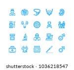 urology vector flat line icons. ... | Shutterstock .eps vector #1036218547