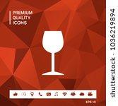 wineglass icon symbol | Shutterstock .eps vector #1036219894