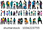isolated silhouette people in... | Shutterstock .eps vector #1036223755