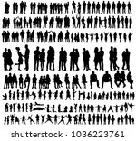 vector  isolated silhouette... | Shutterstock .eps vector #1036223761