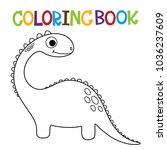 cute dino coloring book. | Shutterstock .eps vector #1036237609