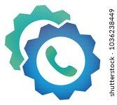 gears icon. vector pictograph... | Shutterstock .eps vector #1036238449