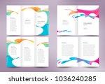 drops colored liquid brochure... | Shutterstock .eps vector #1036240285
