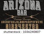 font alphabet typeface... | Shutterstock .eps vector #1036240807