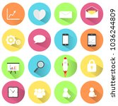 web design flat icon ... | Shutterstock .eps vector #1036244809