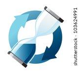 hourglass in dark blue color... | Shutterstock .eps vector #103624991