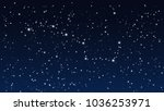 abstract stars night sky with... | Shutterstock .eps vector #1036253971