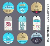 set of flat winter sale labels... | Shutterstock .eps vector #1036254934