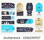 set of flat winter sale labels... | Shutterstock .eps vector #1036254937