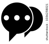 speech bubbles icon  comment...