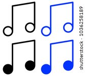 set of icons melody   Shutterstock .eps vector #1036258189
