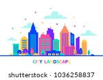 city landscape. silhouettes of... | Shutterstock .eps vector #1036258837