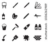 drawing and painting icons.... | Shutterstock .eps vector #1036262989