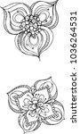 simple imaginative handmade... | Shutterstock .eps vector #1036264531