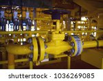 manual operate ball valve at... | Shutterstock . vector #1036269085