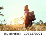 asian men travel  nature.... | Shutterstock . vector #1036270021