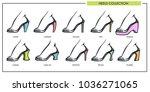 woman shoe heels type models... | Shutterstock .eps vector #1036271065