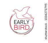 early bird discount sale logo | Shutterstock .eps vector #1036273795