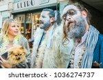 hastings uk 25 11 2017 bearded... | Shutterstock . vector #1036274737