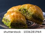 traditional baklava  turkish... | Shutterstock . vector #1036281964