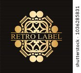vintage ornamental retro golden ...   Shutterstock .eps vector #1036285831