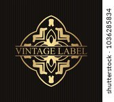 vintage ornamental retro golden ... | Shutterstock .eps vector #1036285834