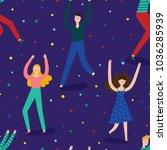super cute seamless pattern... | Shutterstock .eps vector #1036285939