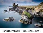 west coast sea cliffs of... | Shutterstock . vector #1036288525
