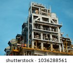 offshore construction platform... | Shutterstock . vector #1036288561