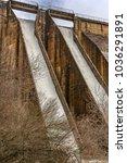 Small photo of Dam of Puente Alta in Revenga (Segovia, Spain). Swamp built in the 60s under the mandate of General Franco.