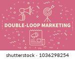conceptual business... | Shutterstock . vector #1036298254