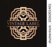 vintage ornamental retro golden ... | Shutterstock .eps vector #1036301401