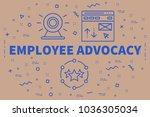 conceptual business...   Shutterstock . vector #1036305034