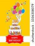 100 years anniversary. happy... | Shutterstock .eps vector #1036308079