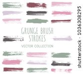grunge paint brush stroke... | Shutterstock .eps vector #1036308295