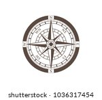compass wind rose travel... | Shutterstock .eps vector #1036317454