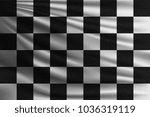 black and white racing flag.... | Shutterstock .eps vector #1036319119