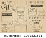 coffee menu placemat design.... | Shutterstock .eps vector #1036321591