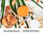 homemade skin care cosmetic...   Shutterstock . vector #1036322461