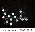 abstract molecules medical... | Shutterstock .eps vector #1036326817