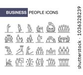 business people icons set 24 ui ... | Shutterstock .eps vector #1036328239