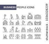 business people icons set 24 ui ...