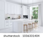 3d rendering of modern kitchen... | Shutterstock . vector #1036331404