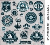 Vintage Nautical Set Template